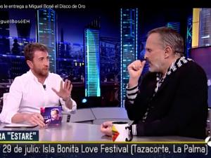"""Miguel Bosé lleva a """"El Hormiguero"""" su actuación en el Love Music Festival."""