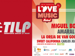 El Love Music Festival y Transportes Insular La Palma acuerdan un servicio especial de transporte para acudir el día 29 al macroconcierto.