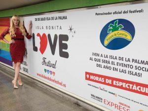 El Isla Bonita Love Festival, en 12 estaciones del Metro de Madrid con Plátano de Canarias e Iberia Express