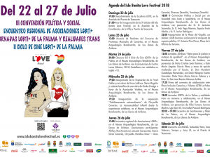 Agenda del ISLA BONITA LOVE FESTIVAL 2018