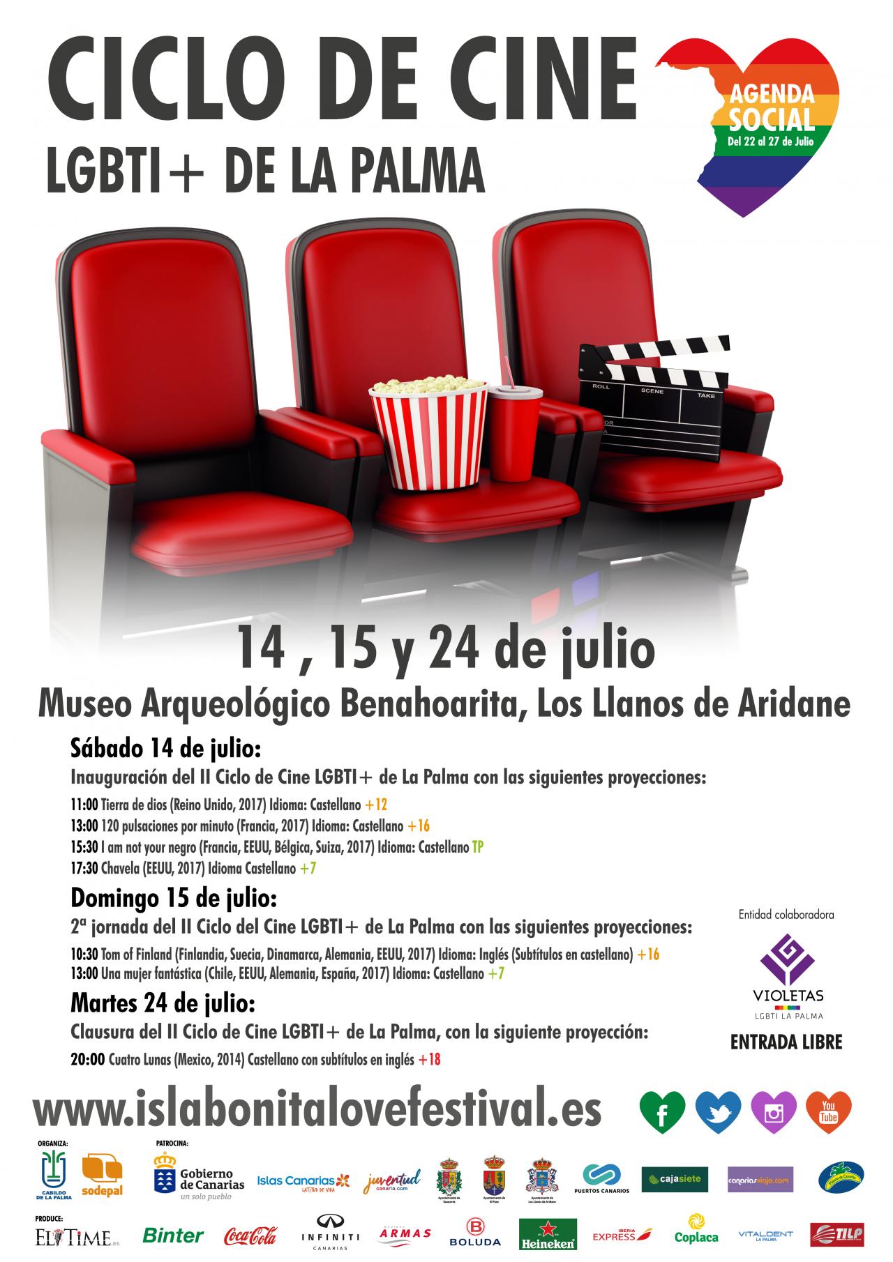 Imagen Cartel Ciclo de Cine LGBTI+