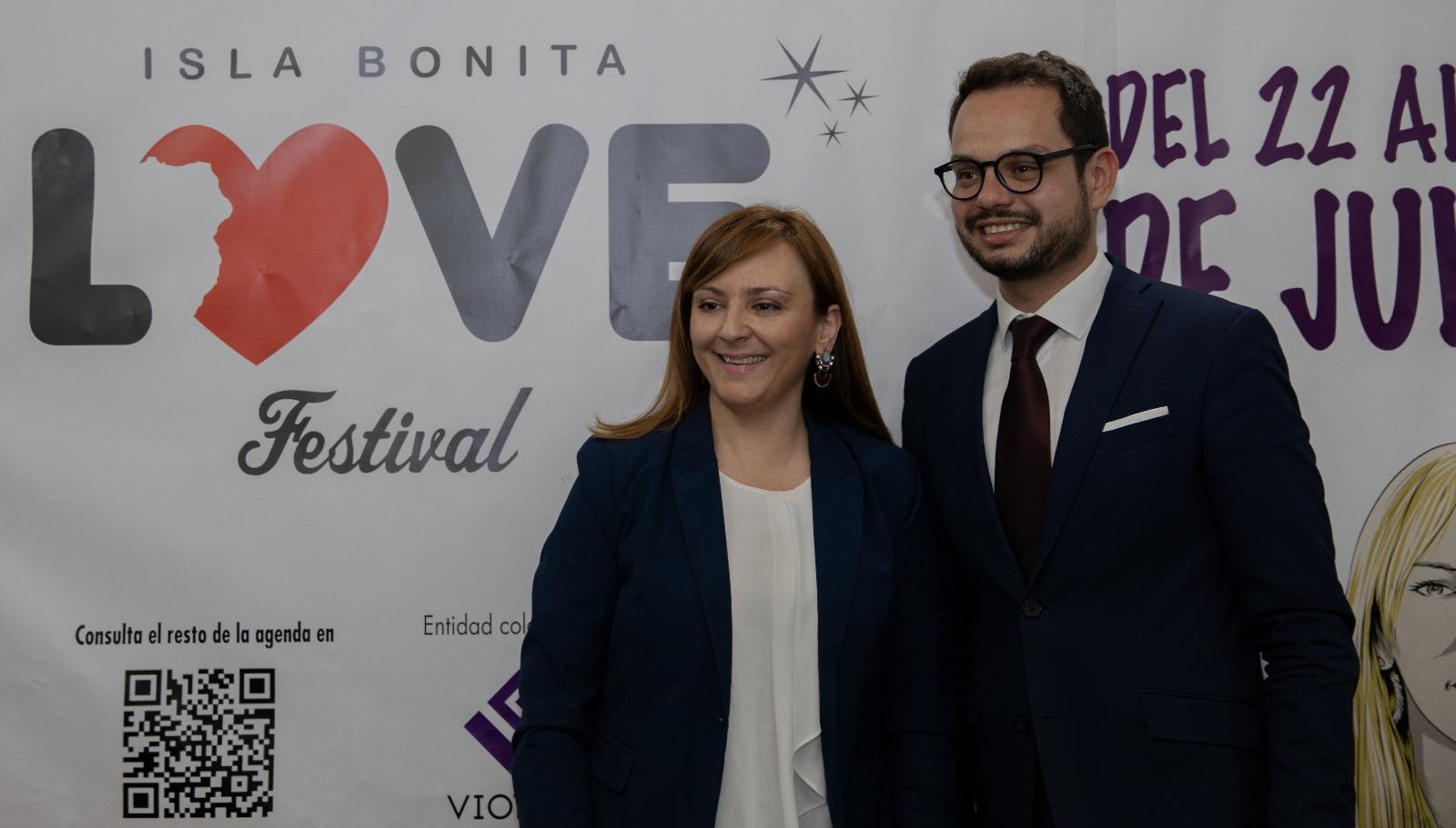 Presentación Isla Bonita Love Festival, Jordi Pérez Camacho y Nieves Lady Barreto.