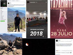 Maná promociona  La Palma entre sus más de 20 millones de seguidores en redes sociales