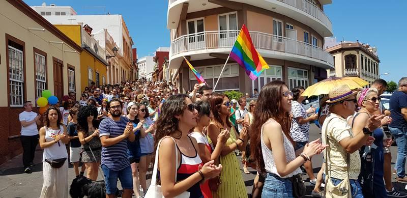 Primera manifestación del Orgullo celebrada el pasado sábado en Tazacorte